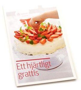 Bild på Vykort Grattis Tårta