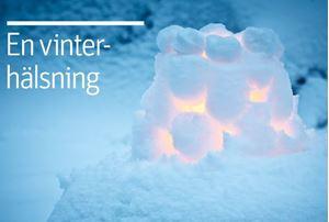 Bild på Vykort - Vinterhälsning